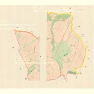 Klein Lhotta (Mala Lhota) - m1521-2-002 - Kaiserpflichtexemplar der Landkarten des stabilen Katasters