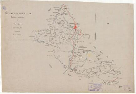 Mapa planimètric zona SO i SE d'Avinyó