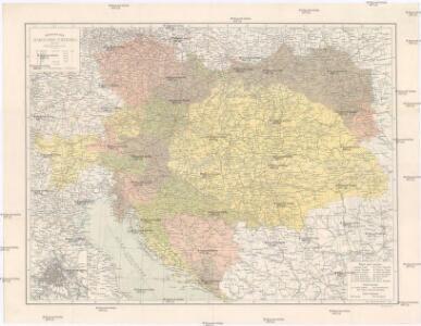 Místopisná mapa Rakousko-Uherska