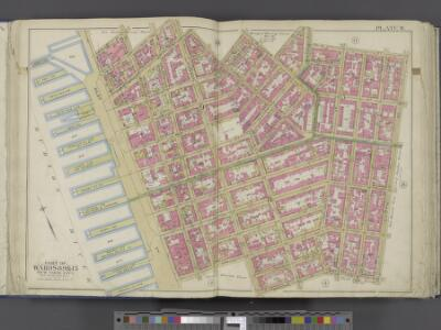 Manhattan, Double Page Plate No. 9 [Map bounded by Charles St., W. 3rd St., S. 5th Ave., Broome St., Hudson River]