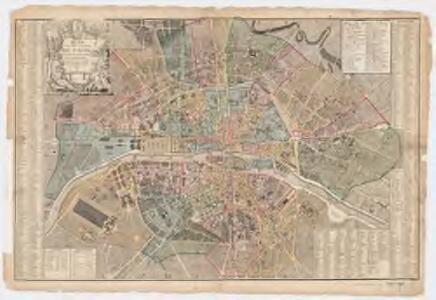 Plan de la ville et faubourg de Paris : avec tous ses accroissemens et la nouvelle eceinte des barrieres de cette capitale