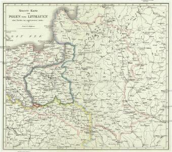 Neueste karte von Polen und Lithauen nebst Theilen der angränzenden Länder