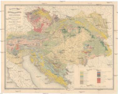 Geologische Karte von Österreich-Ungarn