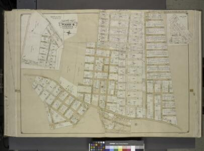 Queens, Vol. 1, Double Page Plate No. 27; Sub Plan    No. 2; [Map bounded by Springfield Road, Bank St., Clinton St., Hancock St.,     Halsey St., Raplee St., Decatur St.; Including Lincoln Road, St. Marks Ave.];    Part of Ward 4; Jamaica; [Map bound