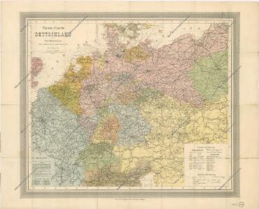 Reise - Karte von Deutschland und den Nachbarstaaten