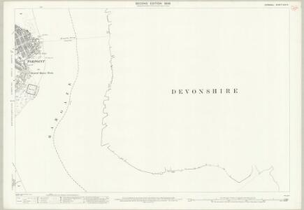 Cornwall XLVI.14 (includes: Devonport; East Stonehouse; Maker with Rame; Torpoint) - 25 Inch Map