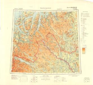 Tysk kart over Tromsø (Deutsche Heereskarte - Europa)