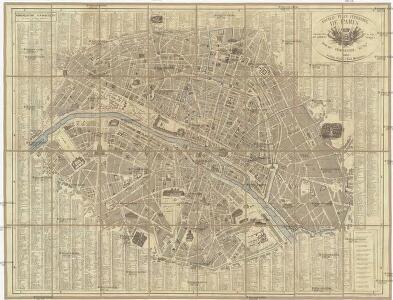 Nouveau plan itinéraire de Paris comprenant toutes les rues, et les edifices publics
