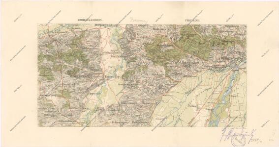 Speciální mapy okolí různých měst