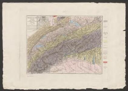 Geognostische Karte der Alpen in Savoyen und der Schweitz in einem Theile von Deutschland, Frankreich, Piemont und der Lombardei