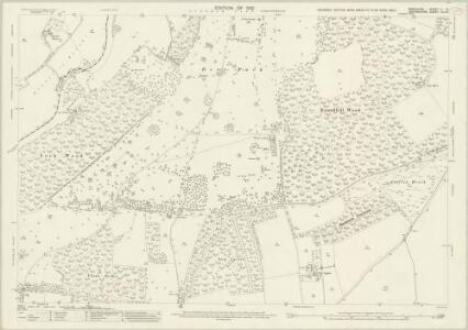 Berkshire X.8 (includes: Clifton Hampden; Culham; Nuneham Courtenay; Radley; Toot Baldon) - 25 Inch Map