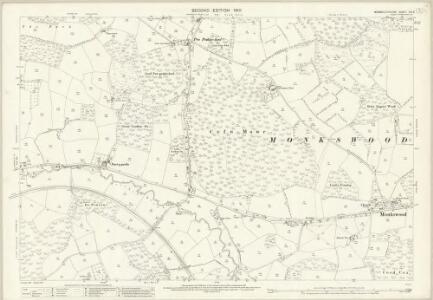Monmouthshire XIX.9 (includes: Goetre Fawr; Llanbadog Fawr) - 25 Inch Map