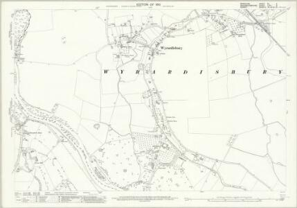 Berkshire XL.3 (includes: Egham; Old Windsor; Wyrardisbury) - 25 Inch Map
