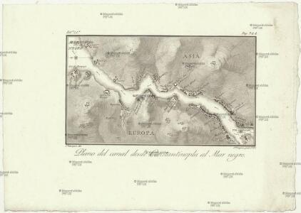 Plan del canal desde Constantinopla al mar Negro
