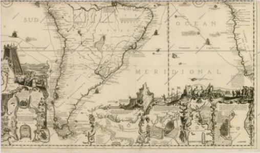 Carte tres curieuse de la mer du Sud, contenant des remarques nouvelles et tres utiles non seulement...