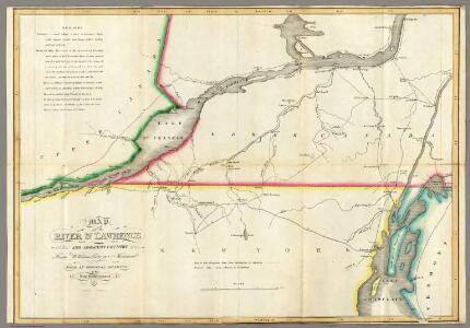 Map of the River St Lawrence and Adjacent Country.
