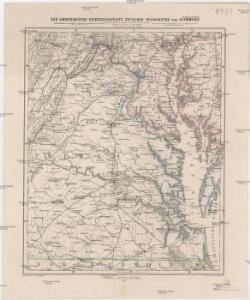 Der amerikanische Kriegsschauplatz zwischen Washington und Richmond