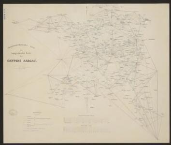 Trigonometisches Netz zur topographischen Karte des Cantons Aargau