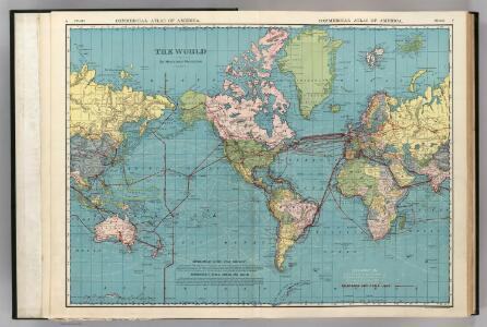 World on Mercator's Projection.