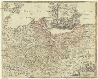 Tabula marchionatus Brandenbvrgici et dvcatvs Pomeraniae quae sunt pars septentrionalis circvli Saxoniae svperioris