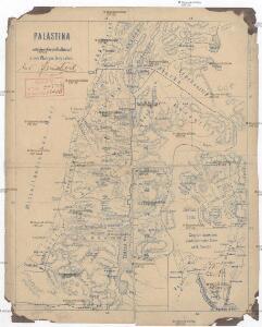Palästina mit der Sinai-Halbinsel u. dem Plan von Jerusalem