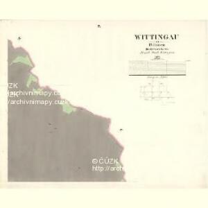Wittingau - c8043-1-009 - Kaiserpflichtexemplar der Landkarten des stabilen Katasters