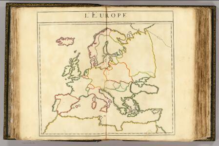 L'Europe (nom, maison, religion, etc. des souverains - outline)