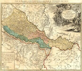 Tabvla Geographica exhibens Regnvm Sclavoniae cum Syrmii Ducatu Ex mappa grandiori desumta et in lucem