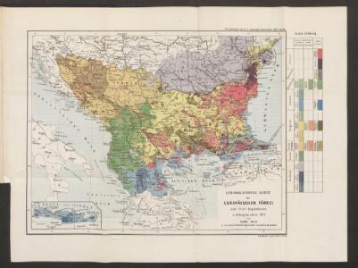 Ethnographische Karte der europäischen Türkei und ihrer Dependenzen zu Anfang des Jahres 1877