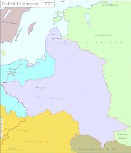 Ostmitteleuropa 1772
