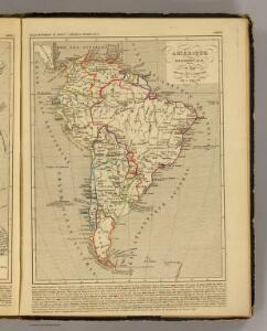Amerique Meridionale en 1840.
