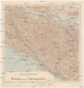 Übersichtskarte von Bosnien und der Hercegovina