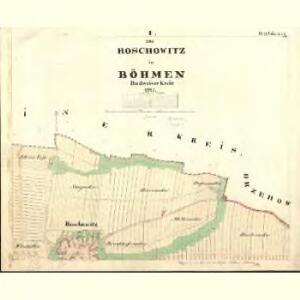 Roschowitz - c6390-1-001 - Kaiserpflichtexemplar der Landkarten des stabilen Katasters