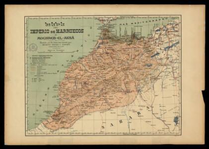 Mapa del imperio de Marruecos ó Moghreb-El-Aksá / trazado con los datos mas recientes por Benito Chias y Carbó, ingeniero militar; J. Soler g[rabó]