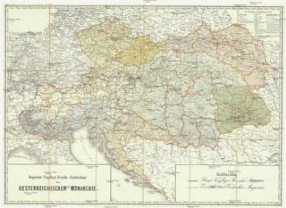 Projectirte Verpflegs-Bezirgs-Eintheilung der Oesterreichischen Monarchie