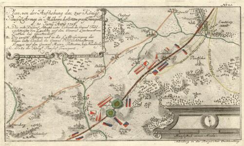 Plan, von der Aufhebung des, zur Königl. Preussis. Armee in Mähren bestimmten grossen Transport d. 30. Junÿ 1758