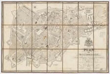 Plan de Strasbourg : avec tous les établissmens publics renfermés dans l'enceinte des fortifications