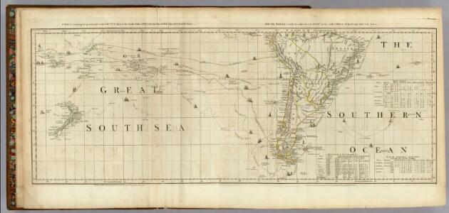 Chart containing the greater part of the South Sea to the South of the Line.