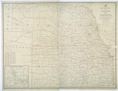 Post route map of the states of Kansas and Nebraska : showing post offices with the intermediate distances and mail routes in operation on the 1st of December, 1900 / published by order of Postmaster General Charles Emory Smith under the direction of A.