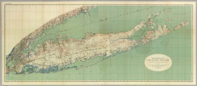 Map Of Long Island, New York.