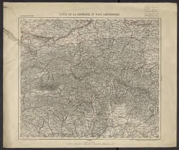 Carte de la Roumanie et pays limitrophes. Cracovie