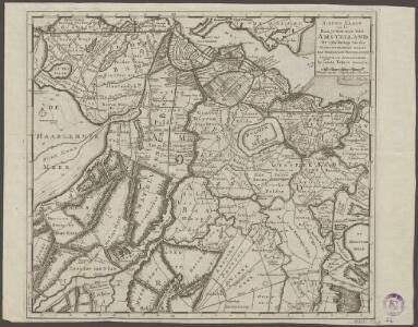 Nieuwe kaart van het baljuwschap van Amstelland