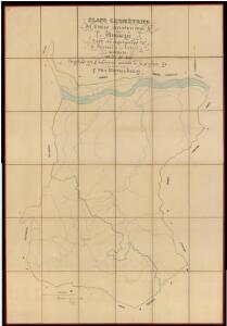 Plano geometrico del termino jurisdiccional de Montnegre con sus agregados de Fuirosus y la Valldoria, partido de Areñs de Mar