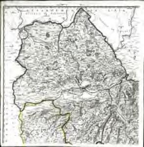 Carte des départements des Hautes Alpes de l'Isere, et de la Drome, no. 1