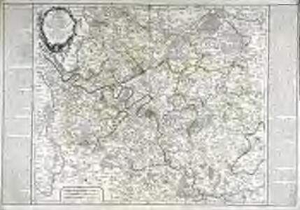 Carte des environs de Paris qui comprend les elections de Paris, de Pontoise, de Senlis, de Mante, de Montfort, de Melun, et de Rosol