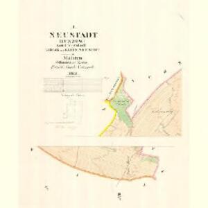 Neustadt (Hunzow) - m3228-1-001 - Kaiserpflichtexemplar der Landkarten des stabilen Katasters