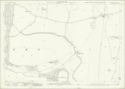 Berkshire IX.5 (includes: Charney Bassett; Hinton Waldrist; Longworth; Pusey) - 25 Inch Map