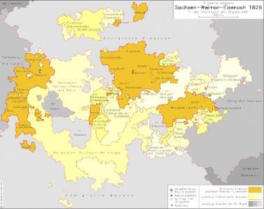 Großherzogtum Sachsen-Weimar-Eisenach 1826 in der thüringischen Staatenwelt