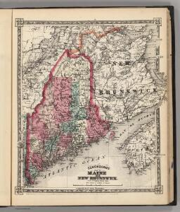 Schonberg's Map of Maine and New Brunswick.