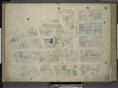 [Plate 8: Map bounded by Duane Street, Thomas Street, Church Street, Murray Street, West Street; Including Reade Street, Chambers      Street, Warren Street, Washington Street, Greenwich Street, Hudson Street, West  Broadway, College Place]